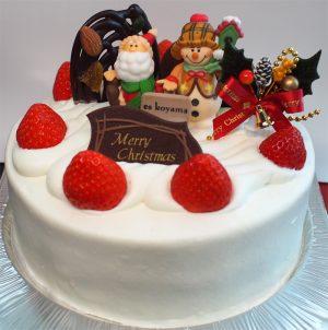 エスコヤマ クリスマスケーキ-生クリームデコレーション